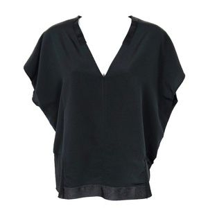 ZARA WB Collection | Stretch Crepe Boxy Top Large